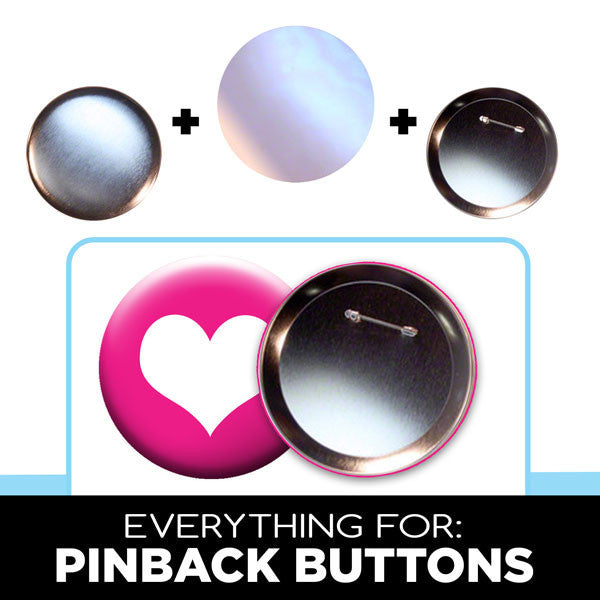 4 inch large pinback buttons