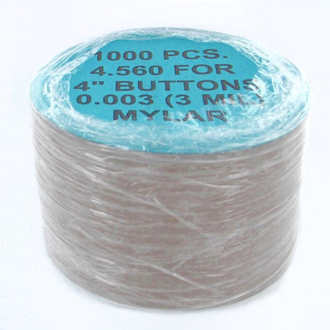 4 inch Mylar for button making