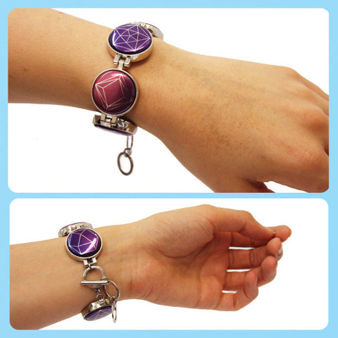 Magnetic Button Charm Bracelet