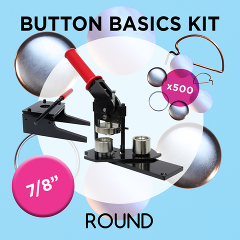 "7/8"" Standard Button Maker Machines and Start Up Kits"