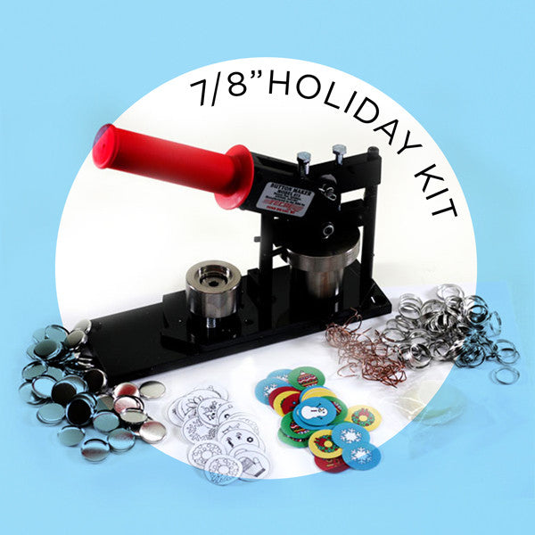 "7/8"" Mini Button Holiday Kit"