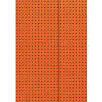 Orange on Grey Polka-Dot designed Journals with Magnetic Wrap Closure