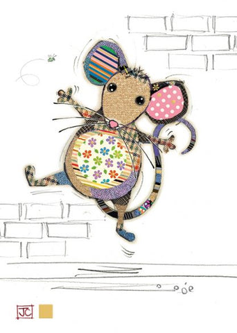 Adorable Molly Mouse Blank Card