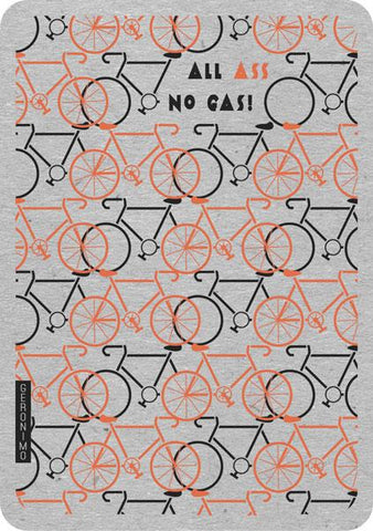 Retro blank greeting card bicycle theme