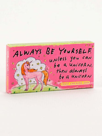 Unique gift gum, Always Be Yourself, Unicorn theme