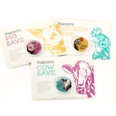 Toronto Animal Save Buttons by People Power Press