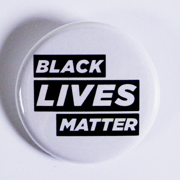 'Black Lives Matter' Button from People Power Press Anti Racism Collections