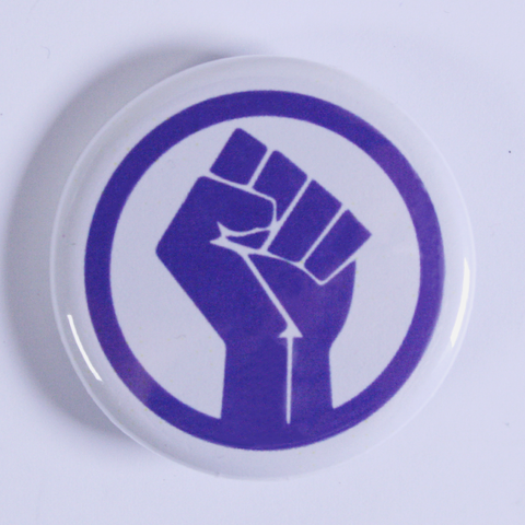 Clenched Fist Pinback Button