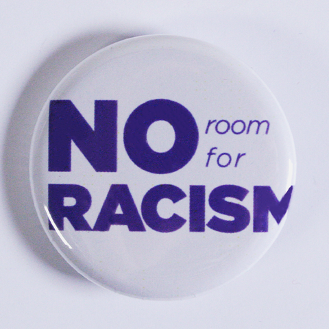 'No Room For Racism' Button from People Power Press