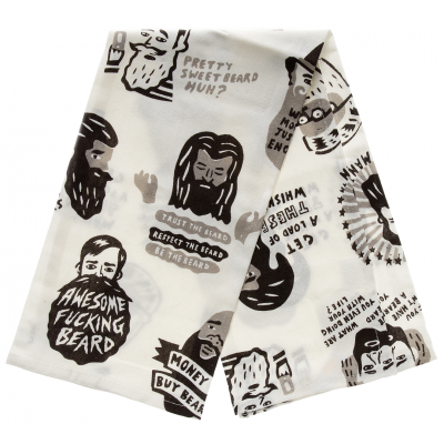 Towels for proud bearded beasty-men. Manly Blue Q Dish Towels