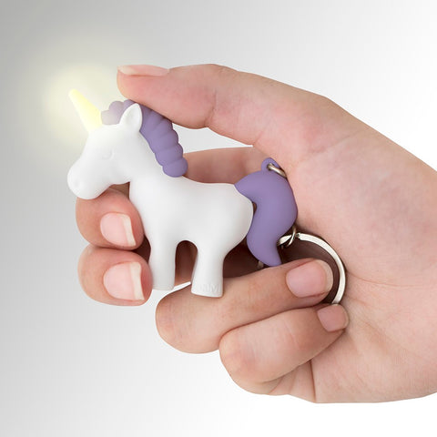 Unicorn LED Light and Sound Key Ring