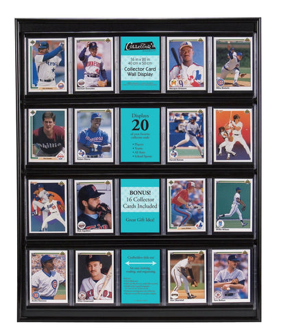 Football sports card display