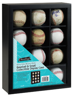 CLEARANCE: Hockey Puck, Baseball and small collectible display case Great display for model vintage stuff