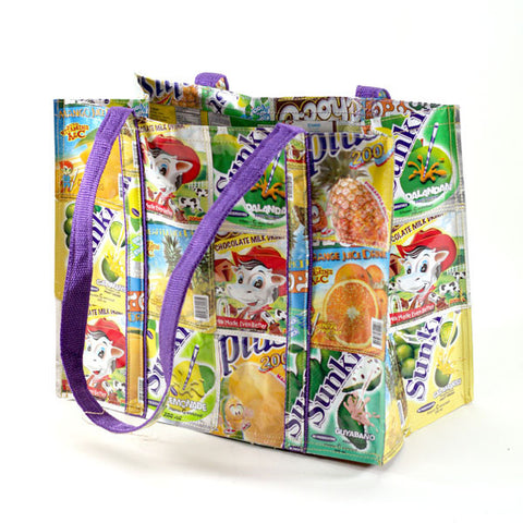 Upcycled Beach Bag - Basura Recycled Juice Bags