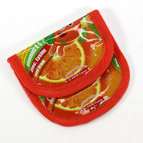 Upcycled Coin Purse - Basura Recycled Juice Bags