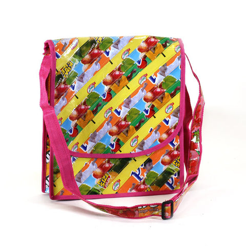 Upcycled Messenger Bags (Small) Basura Recycled Juice Bags