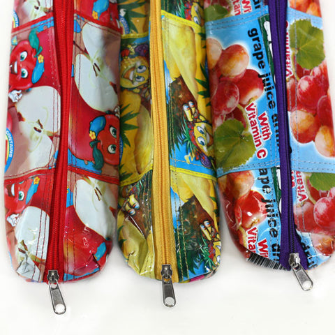 Upcycled Small Pencil Bag Colour Options