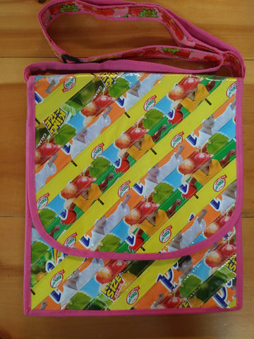 Upcycled Messenger Bags (Large) - Basura Recycled Juice Bags