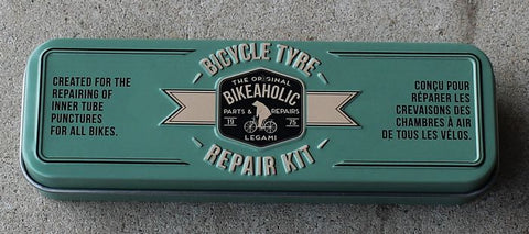 Convenient Bicycle Tyre Repair Kit box with complete kit.