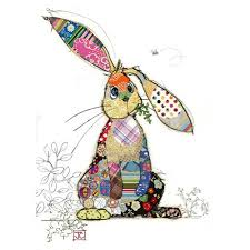 Bug Art Binky Bunny Cute Card
