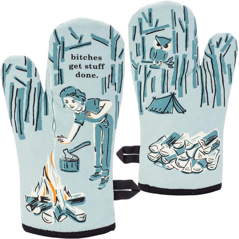 Blue Q Oven Mitts, great quality, super insulated, 100% cotton, fun themes