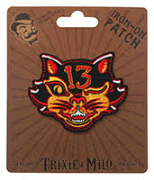 Black Cat 13 Embroidered Patch