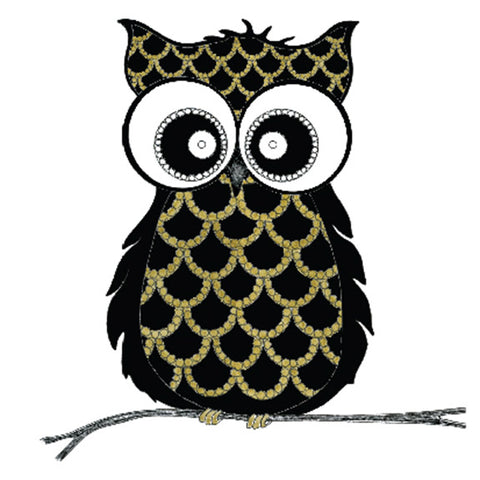 Bejeweled Owl Blank Greeting Card