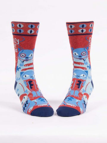 Crazy Cat Dude Cat Lovers Socks for Men
