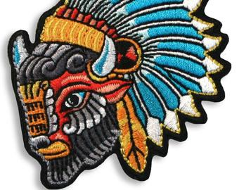 Buffalo Head Iron-On Patch
