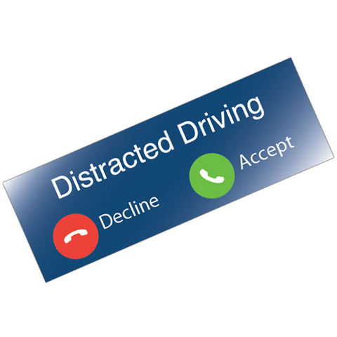 Vinyl Bumper Sticker Distracted Driving