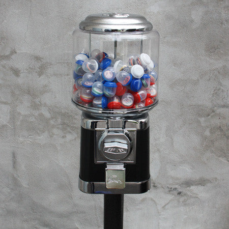 Automatic Button Vending Machine - Round Black - Complete kit option with your own button designs.