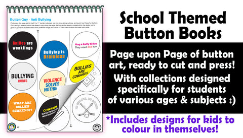 School Themed Button Books