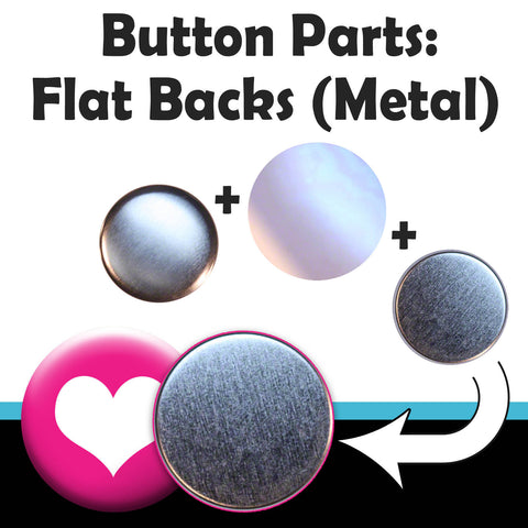 Flat back button parts for making game and craft pieces with your T150 button maker machine