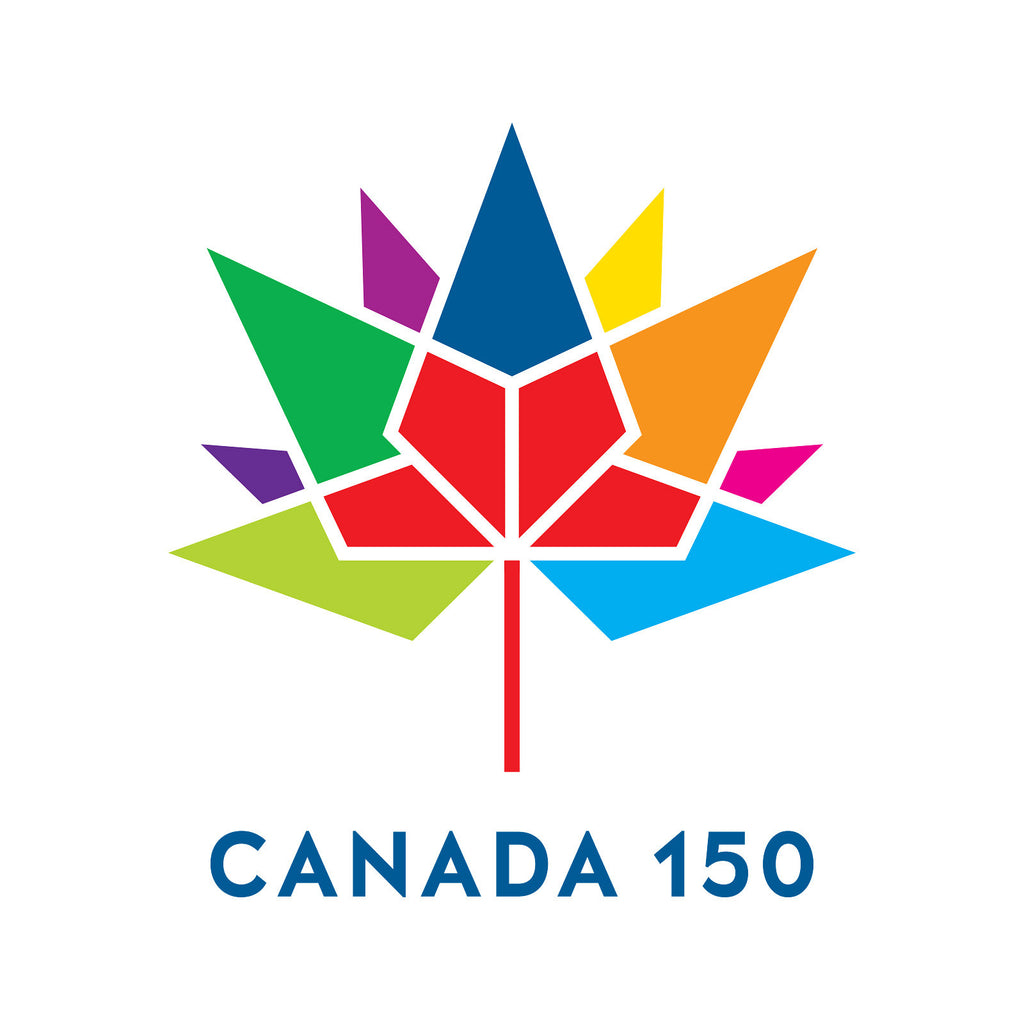 Labels and stickers for canada 150 multi colour canada 150 round poly vinyl
