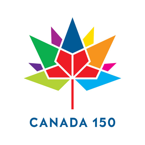 Labels and Stickers for Canada 150 Multi Colour