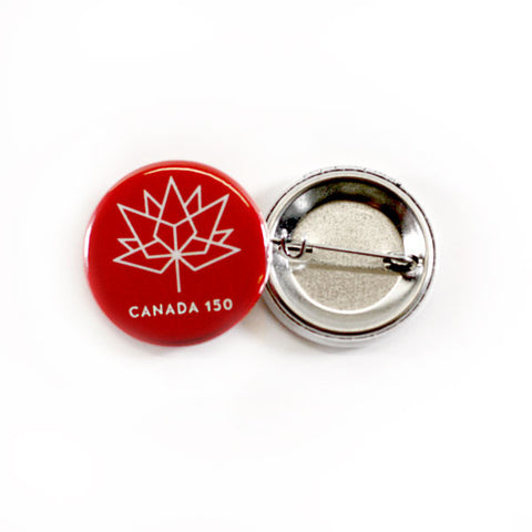 Red and White Canada Official Logo Button