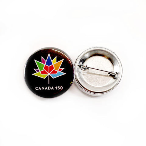 Multicolour logo Canada 150 official button