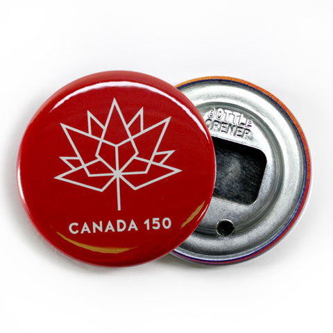 Canada Day Bottle Opener 150 Logo Red