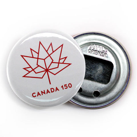 Canada's 150th Birthday Logo Bottle Opener White