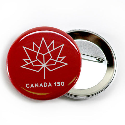 Official Canada 150 logo buttons red