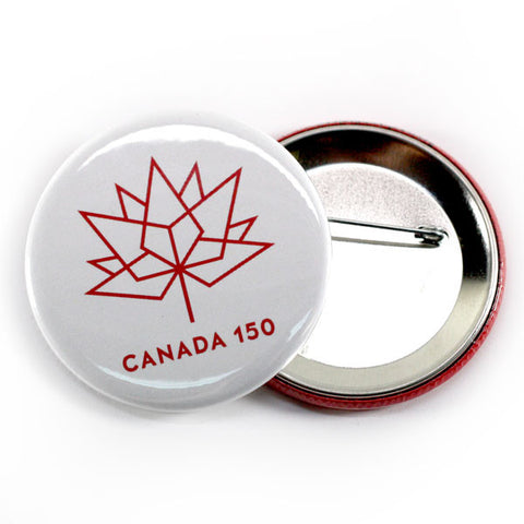 Canada 150 official celebration buttons white and red