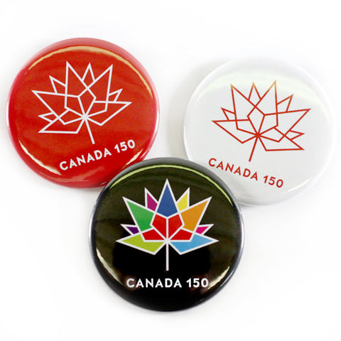 "Canada 150 Official Logo 2-1/4"" Magnets, Bottle Openers & Buttons"