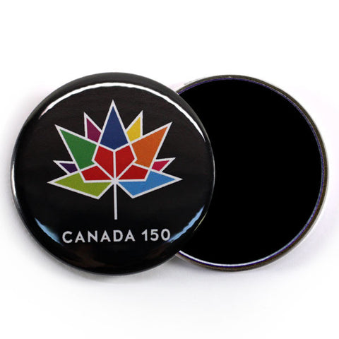 Canada Day 2017 Fridge Magnet Black