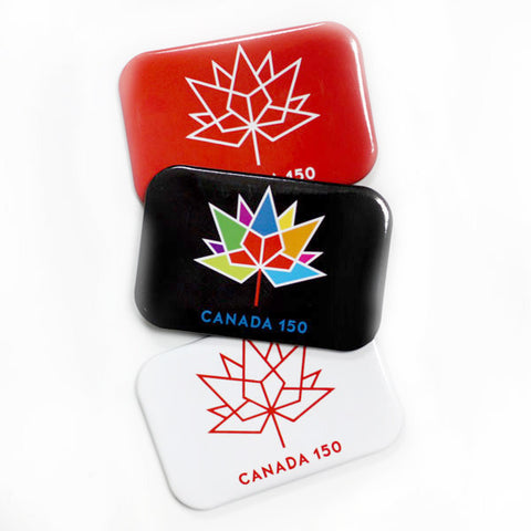 "Canada 150 Official Logo 2x3"" - Confederation Magnets & Buttons"