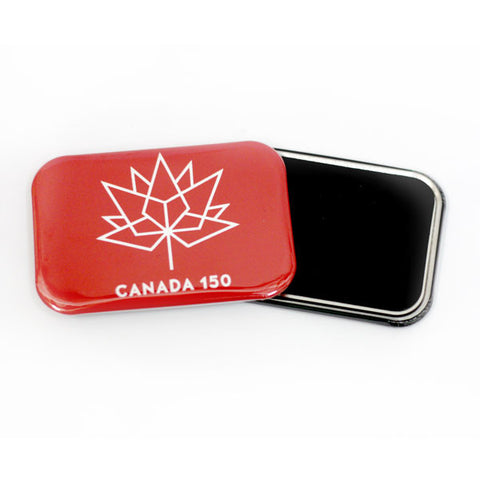 150 years confederation of canada fridge magnet red