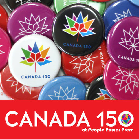"Canada 150 Official Logo 1-1/4"" Buttons"