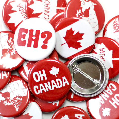 Canada Eh! Buttons Assorted Designs