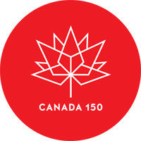 Labels and Stickers for Canada 150 Red