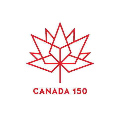 Labels and stickers for Canada150 white