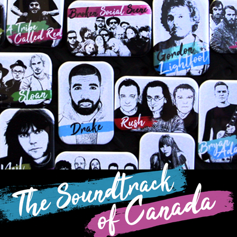The Soundtrack of Canada - People Power Press Souvenir & Gift Fridge Magnet Collection